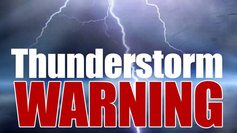 Severe Thunderstorm Warning issued for Mercer County